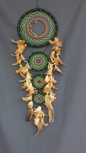 hecho-a-mano-multicolor-atrapasuenos-plumas-de-hilo-acrilico-perlas-de-cristal-indio-amuleto-talisma