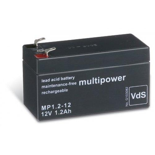 akku-net Bleiakku (multipower) MP1,2-12 Vds, 12V, Lead-Acid