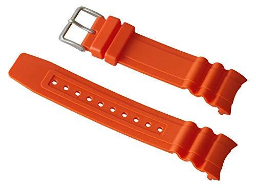 Ersatzband Uhrenarmband Kunststoff Gummi Band orange passend zu Citizen Promaster Taucheruhr BN0100