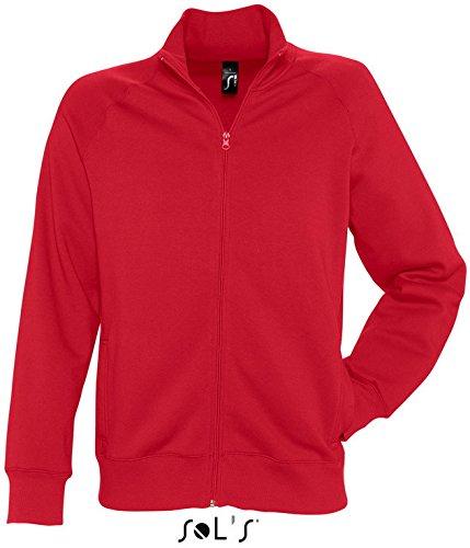 Preisvergleich Produktbild SOLS Men´s Zipped Jacket Sundae 47200, Größe:XXL;Farbe:Red