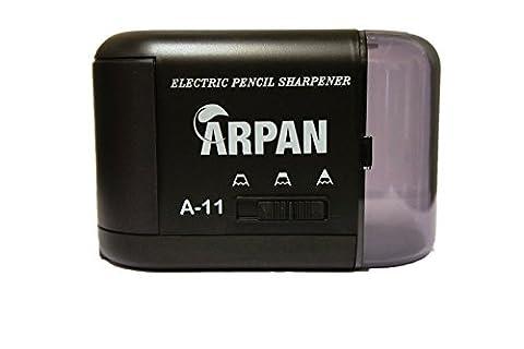 Arpan Desktop Spitzer–Elektrische und Batteriebetriebener Anspitzer für pencils-3Schärfe Einstellungen–Büro Schule