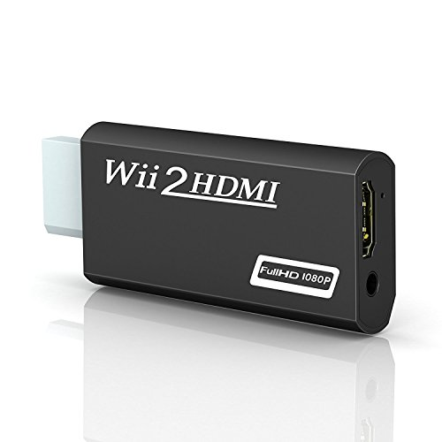 Wii zu HDMI Adapter,GANA Wii to HDMI 720/1080P HD Converter Adapter mit 3,5mm Audioausgang Wii zu HDMI Konverter für Wii Monitor Beamer Fernseher (U-adapter-kabel Wii)
