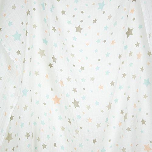 Weegoamigo Wickeldecke Baby Musselin Decke–Twinkle blau