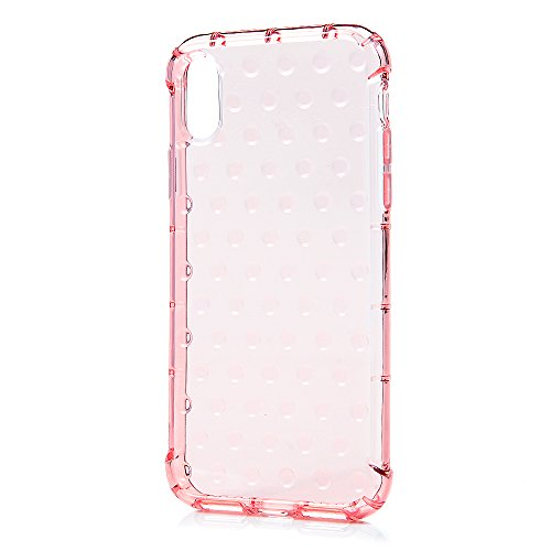Coque iPhone X Mavis's Diary Étui Housse de Protection TPU Silicone Gel Souple Transparente Bumper Coque Phone Case Cover Swag Protection écran Pour iPhone X Ultra Mince Léger Flexible Fine + Chiffon  Rose