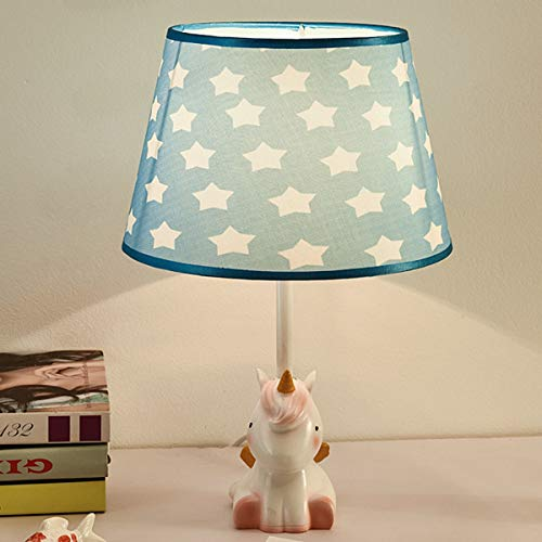 EFGS Resin Cartoon Mesa lámpara para niños, niñas, Dormitorio, Regalo de Kindergarten,D