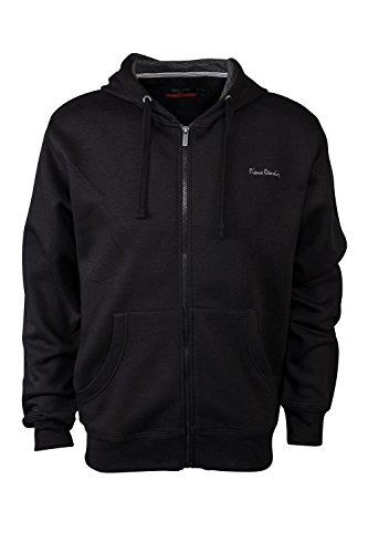 pierre-cardin-mens-new-season-full-zip-hooded-sweatshirt-xl-black