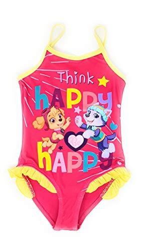 Paw-Patrol Mädchen Badeanzug (Pink 2, 4 Jahre (Herstellergröße 104)) -
