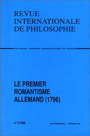 Le Premier romantisme allemand (1796) par Collectif