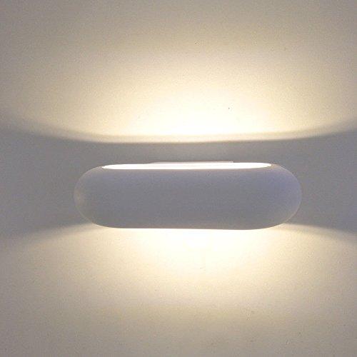 JJZHG Wandleuchte Wasserdicht Wandbeleuchtung Indoor Wohnzimmer Schlafzimmer führte auf und ab licht im freien wasserdichte Wandleuchte Hotel nachtwandleuchte 22 *   15,5 * 5,5 cm,Sand weiß -