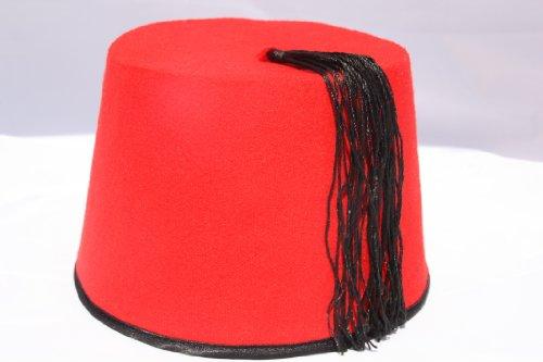 Ägyptischer Fez / Fes Araberhut Tarbusch Araber Mütze Orientalische- Herren Kopfbedeckung- rot