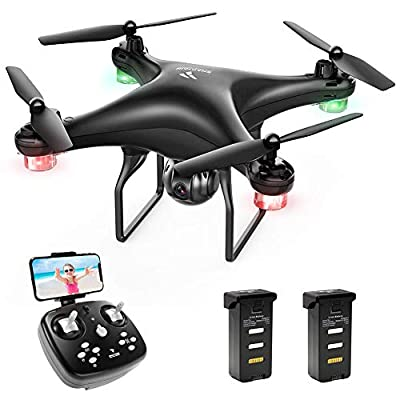 SNAPTAIN SP600 WiFi FPV Drone with 720P HD Camera, 1600mAh Modular Battery, Voice Control, Gesture Control, Gravity Control, Altitude Hold, Headless Mode, One Key Take Off/Landing