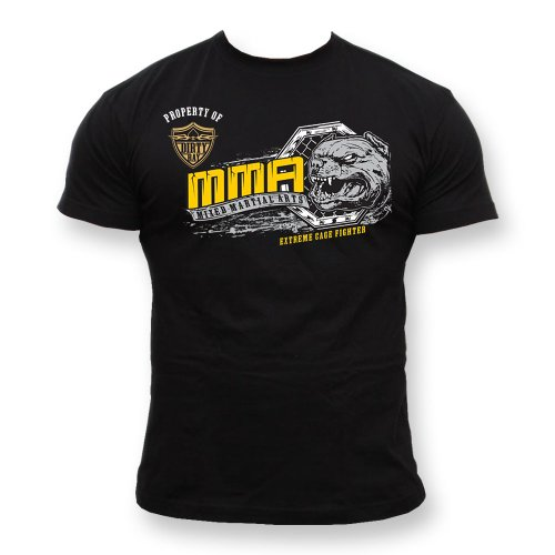 Dirty Ray Kampfsport MMA Extreme Cage Fighter Herren Kurzarm T-Shirt K57 (M) -