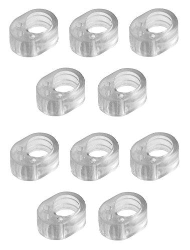 10er Pack Türklinkenpuffer, Türgriffschutz, transparent