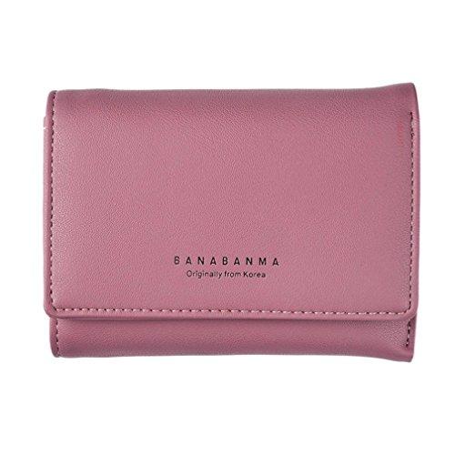 Portafoglio Donna, Tpulling Borsa della borsa della borsa della frizione della borsa del raccoglitore del cuoio delle donne (Purple) Wine