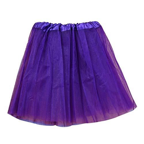 WOZOW Mädchen Tutu Kleinkind Einfarbig Ballettrock Dancewear Prinzessin Kleider Multi-Schichten Elegant Tüll Festliche Cosplay Fasching