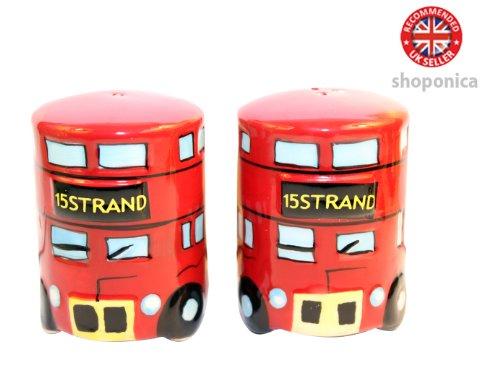 Motif bus londonien en céramique Sel et poivre