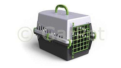 Hunde Katzen Kleintier Transportbox Transport Auto Box Korb Kennel (grün)