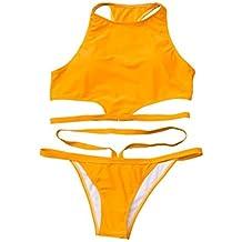 POLP Bikinis Sexys Mujer Traje de baño Dos Piezas Playa Sujetador Blanco Tanga Verano 2019 Chica