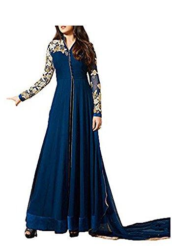 Royal-Export-Womens-Georgette-Blue-Anarkali-Semi-Stitched-Salwar-Suit