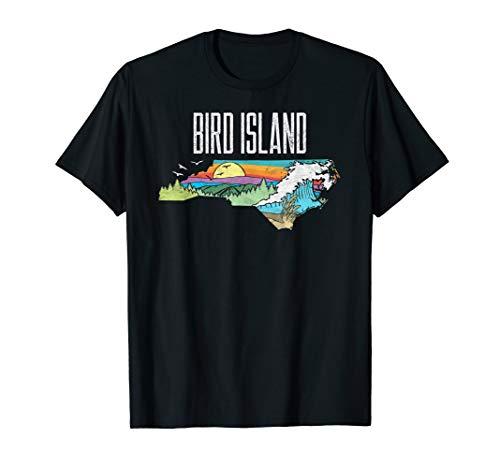 Bird Island State of North Carolina Outdoors Graphic  T-Shirt -