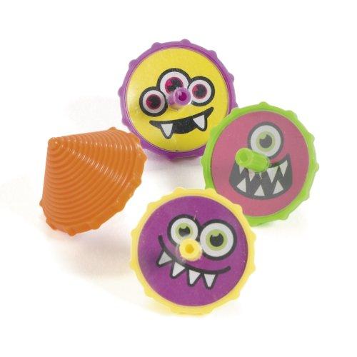 cama24com Kreisel mit lustigen Monster Halloween Motiven 12 Stück Palandi®