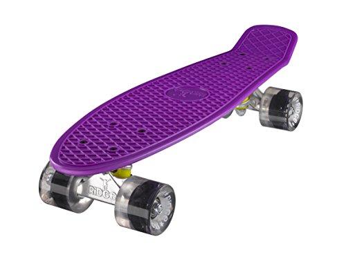 """Ridge 22\"""" Mini Cruiser Board Retro Skateboard, komplett, in lila, völlig in der EU entworfen und hergestellt"""