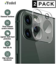 [2 Pack] iTedel 3D Camera Lens Protector for Apple iPhone HD Clear Tempered Glass 9H Anti-Scratch Anti-Fingerp
