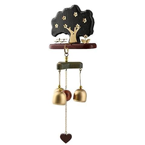 DealMux Copper Bar Geburtstags-Geschenk-Baum-förmiger Haken hängen Dekor Wind Bell Chime Windbell