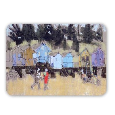 Beach Huts at Wells (mixed media) by.. - Mouse Mat Art247 Highest Quality Natural Rubber Mouse Mats - Mouse Mat