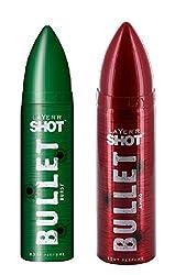LAYERR Shot Bullet Burst & Ammo Deodorant For Men - Set Of 2