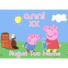 Cialda per Torta PEPPA PIG george - da personalizzare - peppa002