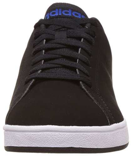 adidas Advantage Clean VS, Baskets Basses Homme, Blanc, Eu Noir (Negbas / Negbas / Bleu)