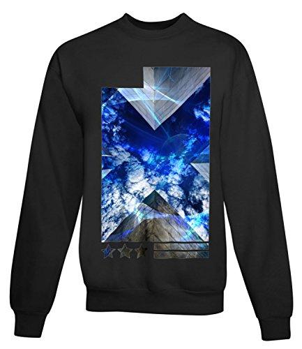 Billion Group | Stars Sky | City Collection | Women's Unisex Sweatshirt Noir