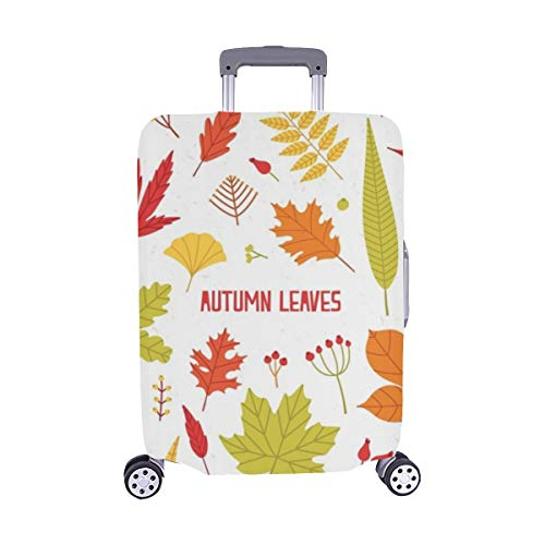 Sammlung Verschiedene Bunte Herbst Baum Blätter Spandex Trolley Reisegepäck Beschützer Koffer Abdeckung 28,5 X 20,5 Zoll