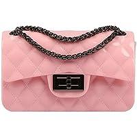 6a52a6709906 BYD Women s Bag Pu Leather Shoulder Mini Purse Camera Bag Lozenge Metal  chain Handbag clutch