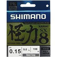 Shimano Kairiki Línea Trenzada SX8 Grey 150m 0,12 mm