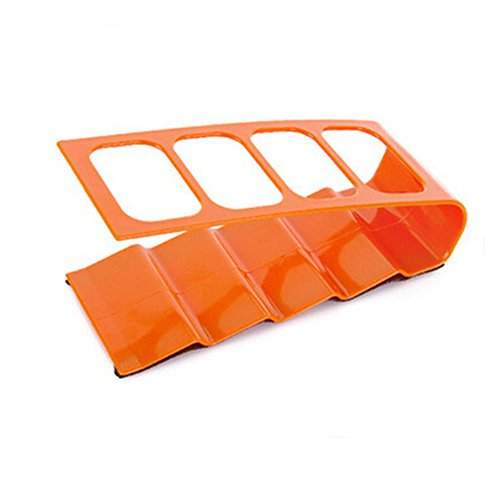PSFY Home Use TV/DVD/VCR Step Remote Control Mobile Phone Holder Stand Storage Organiser (Orange) by PSFY