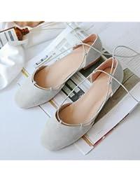 Xue Qiqi Zapatos de la Corte La cabeza de mujer sandalias de ballet Baotou llano con 100 estudiantes están vinculados...