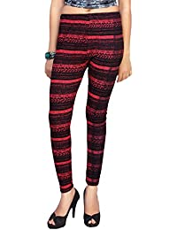 Comix Women Cotton Lycra Fabric Comfort Fit Ankle Length Printed Leggings
