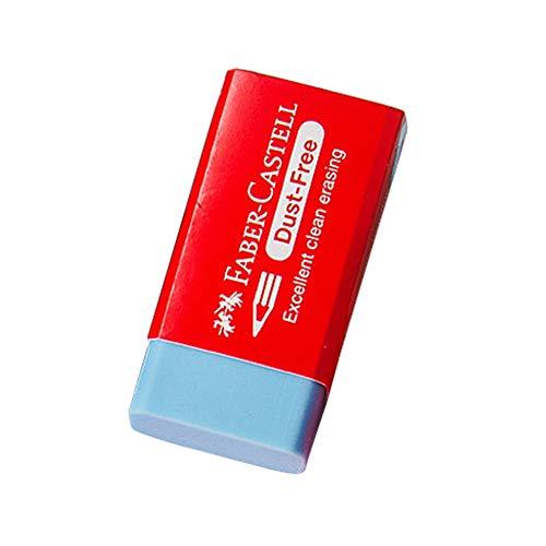 Rycnet Bleistift-Radiergummi, rechteckig, einfarbig, für Schule und Büro himmelblau (Bleistift Top Radiergummi Bulk)