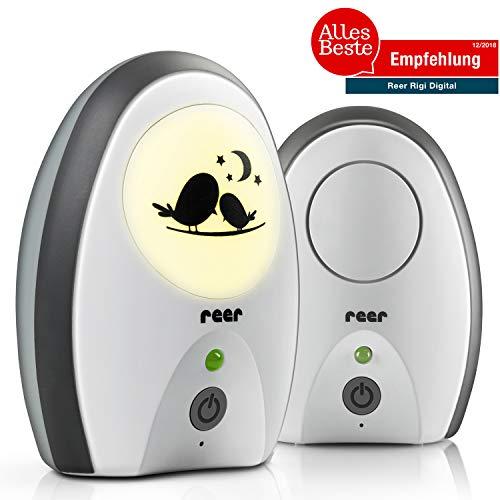 reer 50070 Babyphone Rigi Digital - abhörsicher, strahlungsarm, Nachtlicht, Gegensprechfunktion