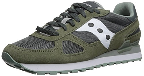 Saucony shadow original, sneaker uomo, multicolore (green/white), 42.5 eu