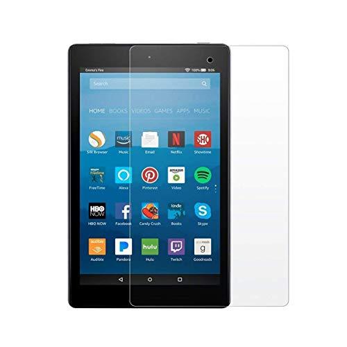 ür Amazon Fire HD 10 Tablet 25,7 cm (7. Generation - 2017 Release) 9H Härte, HD klar [2.5D Round Edge] [Anti-Fingerprint] Panzerglas Folie ()