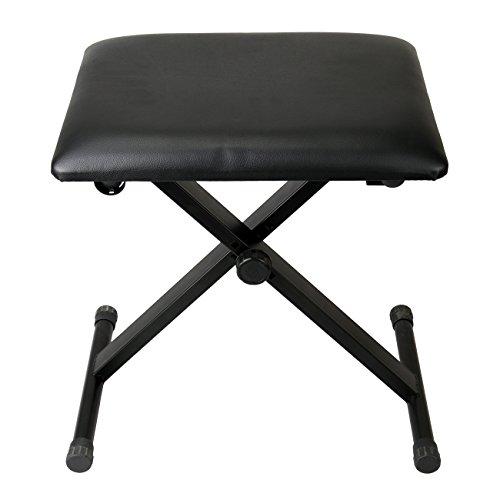 Iglobalbuy Klavier-Sitzbänke schwarzer Hocker Sitzkissen Stuhl 3 Fach höhenverstellbar,klappbar Keyboardbank
