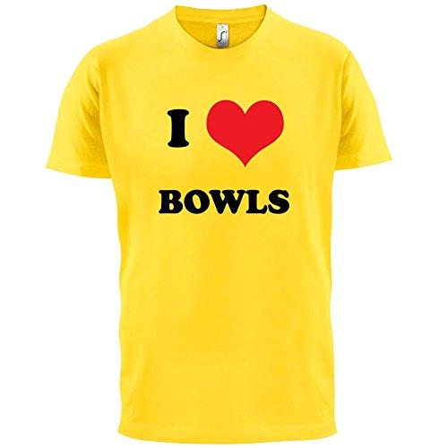 I Love Bowls - Herren T-Shirt - 13 Farben Gelb