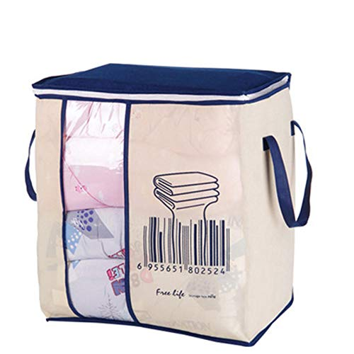 TuToy Faltdable Non-Woven Quilt Bag Große Comforter Clothes Lagerung Taschen Container Decken Organizer W/Handle-Fenster - C (Quilt Tasche)