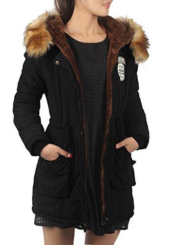 Wolle Voller Länge Mantel (parka damen fellfutter mantel fellimitat elegant trench Coat Frau mit kapuze,Etikett US08, 40)