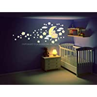 Adesivi murali bambini, adesivi murali Kit Fluo Orsetto sulla Luna
