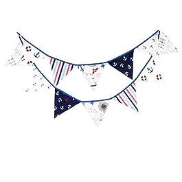 JZK Festa festone bandierine striscione triangolari tessuto per matrimonio compleanno battesimo nascita bandierina triangolo banner
