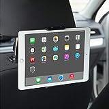 """Supporto per tablet per auto, supporto per poggiatesta per auto con 2 ganci per ganci: Supporto per telefono universale girevole per iPod 360 compatibile con tablet da 4""""a 11"""" (Nero)"""